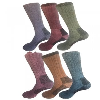 New 6 Pairs Ladies Womens Merino Wool Outdoor Walking Work Hiking Boot Thermal Socks