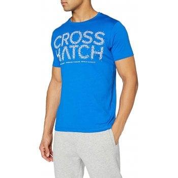 Crosshatch New Crosshatch Mens Bingleybrite Branded Designer Casual T Shirt Blue