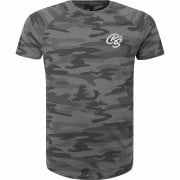 New Crosshatch Mens Denison Camo Army Print Casual T Shirt Black