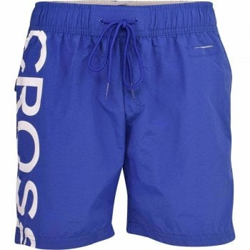 New Crosshatch Mens Designer Shortgate Swimming Trunks Shorts Blue