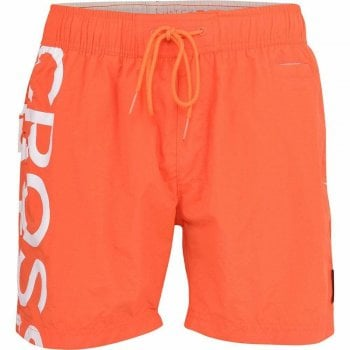Crosshatch New Crosshatch Mens Designer Shortgate Swimming Trunks Shorts Orange
