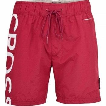 Crosshatch New Crosshatch Mens Designer Shortgate Swimming Trunks Shorts Red