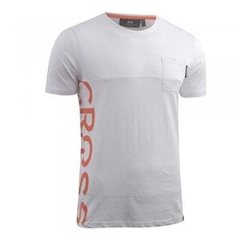 Crosshatch New Crosshatch Mens Highford Branded Designer Casual T Shirt White