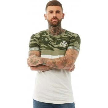 Crosshatch New Crosshatch Mens Youneek Camo Army Print Casual T Shirt Green