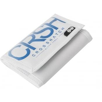 Crosshatch New Mens Crosshatch Three Fold Zip Nylon Crunch Wallets White