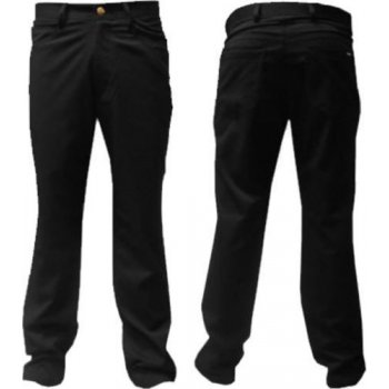 Palvini Mens Jean Style Herringbone Black Trousers Casual