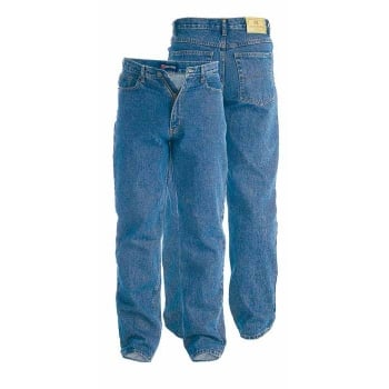 "Rockford Jeans Rockford Comfort Fit Mens 38"" Leg Large Size Quality Jeans Stonewash Blue"
