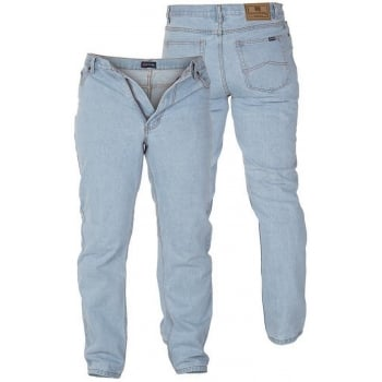 Rockford Jeans Rockford Mens  Comfort Fit Large Size Quality Jeans Bleach