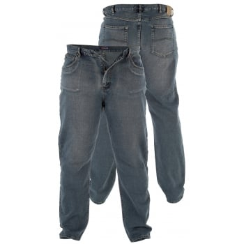 Rockford Jeans Rockford Mens Comfort Fit Large Size Quality Jeans Dirty Denim