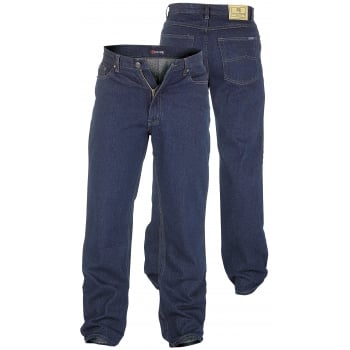Rockford Jeans Rockford Mens Comfort Fit Large Size Quality Jeans Indigo