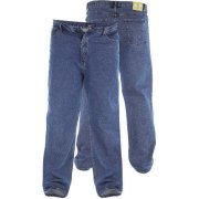 Rockford Mens Comfort Fit Large Size Quality Jeans Stonewash Blue
