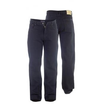 "Rockford Jeans Rockford Mens  Comfort Fit Mens 38"" Leg Large Size Quality Jeans Black"
