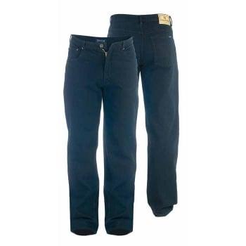 Rockford Jeans Rockford Mens New Stretch Denim Jeans Black Regular Big Kingsize Zip Fly