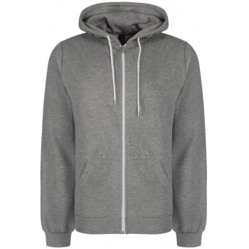 Soul Star Adults Berkeley Full Zip Through Hooded Sweatshirt Tops Grey