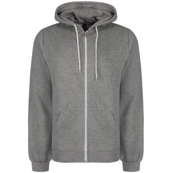 Soul Star Adults Berkeley Full Zip Through Hooded Sweatshirt Tops Grey