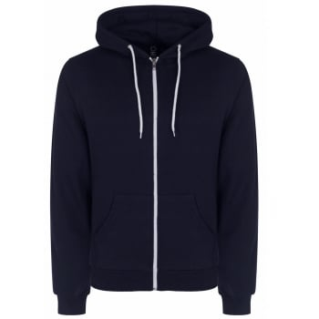 Soul Star Adults Berkeley Full Zip Through Hooded Sweatshirt Tops Navy