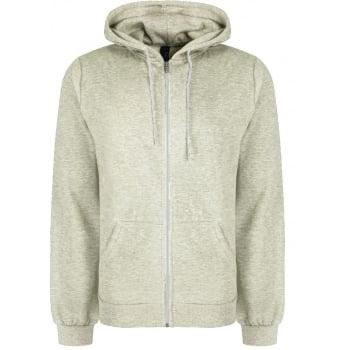 Soul Star Adults Berkeley Full Zip Through Hooded Sweatshirt Tops Oatmeal