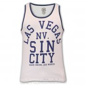 Soul Star Las Vegas Sin City Casual Vest White