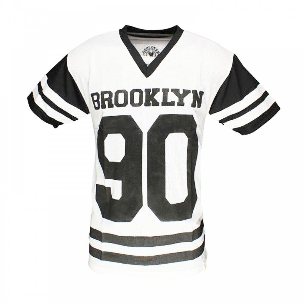 Soulstar Mt Jones American Football Brooklyn V Neck T