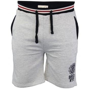 Soul Star Sienna Knee Length Fleece Lined Sweat Shorts Grey Marl