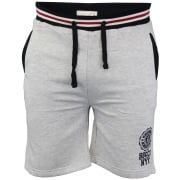Soul Star Sienna Knee Length Fleece Lined Sweat Shorts Grey Marl