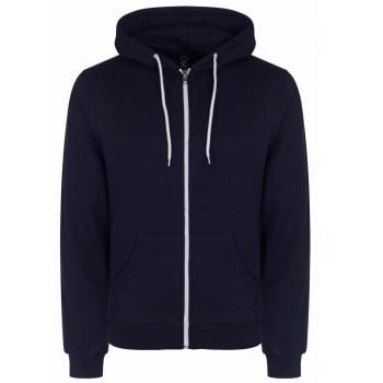 Soul Star Adults Berkeley Full Zip Through Hooded Sweatshirt Tops Navy