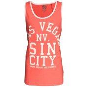 Soul Star Las Vegas Sin City Casual Vest Coral