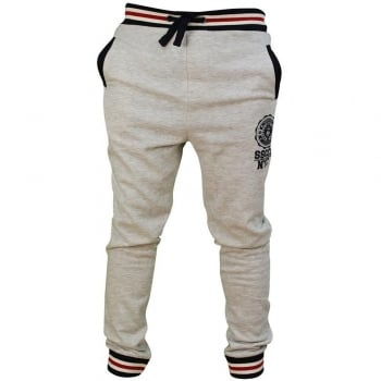 Soul Star Mens MP Sienna Fleece Lined Sweat Joggers Grey