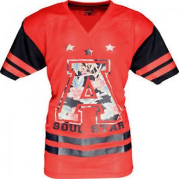 Soulstar American Football Mesh Jersey Red