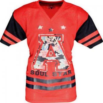 Soul Star Soulstar American Football Mesh Jersey Red