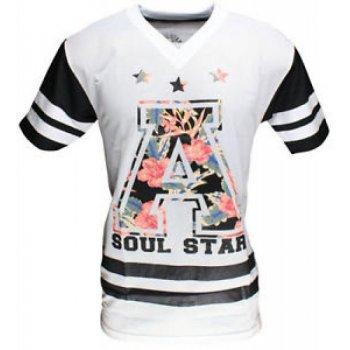 Soul Star Soulstar American Football Mesh Jersey White