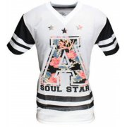 Soulstar American Football Mesh Jersey White