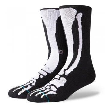 Stance Socks Stance Mens New Classic Crew Anthem Bones Comfort Black Socks