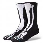 Stance Mens New Classic Crew Anthem Bones Comfort Black Socks
