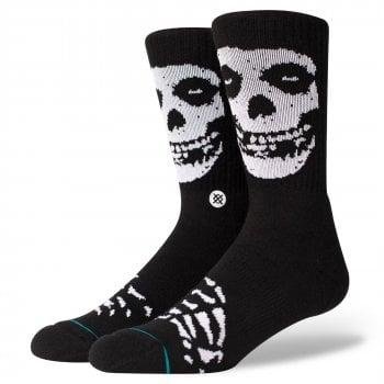 Stance Socks Stance Mens New Classic Crew Anthem Misfits Comfort Black Socks
