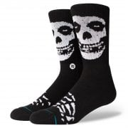 Stance Mens New Classic Crew Anthem Misfits Comfort Black Socks