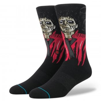 Stance Socks Stance Mens New Classic Crew Anthem Thriller Comfort Black Socks