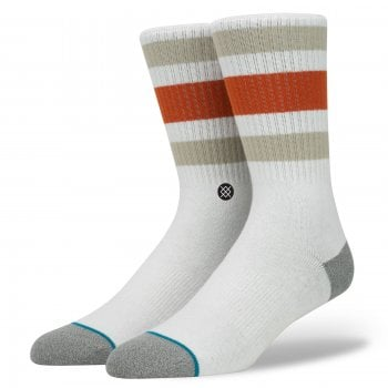 Stance Socks Stance Mens New Classic Crew Comfort Boyd 3 Cotton Socks Natural