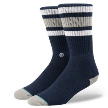 Stance Socks Stance Mens New Classic Crew Comfort Boyd 3 Cotton Socks Navy