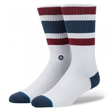 Stance Socks Stance Mens New Classic Crew Comfort Boyd 3 Cotton Socks White Red