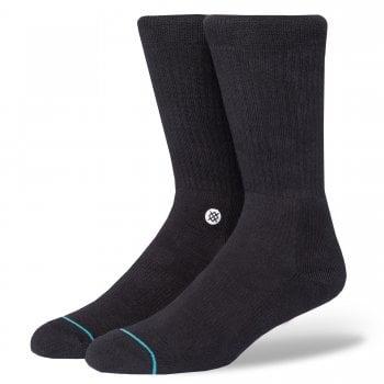 Stance Socks Stance Mens New Classic Crew Comfort Icon Anthem Socks Black White
