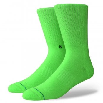 Stance Socks Stance Mens New Classic Crew Comfort Icon Anthem Socks Florescent Green