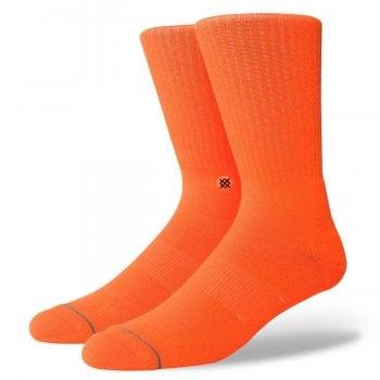 Stance Socks Stance Mens New Classic Crew Comfort Icon Anthem Socks Florescent Orange