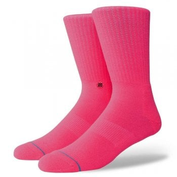 Stance Socks Stance Mens New Classic Crew Comfort Icon Anthem Socks Florescent Pink