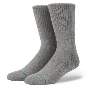 Stance Socks Stance Mens New Classic Crew Comfort Icon Anthem Socks Heather Grey
