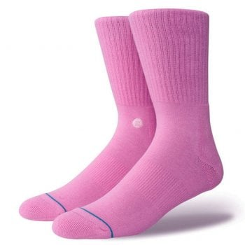 Stance Socks Stance Mens New Classic Crew Comfort Icon Anthem Socks Saturated Pink