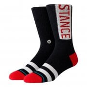 Stance Mens New Classic Crew Comfort Uncommon Solids OG Socks Red