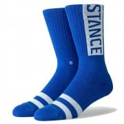 Stance Mens New Classic Crew Comfort Uncommon Solids OG Socks Royal Blue