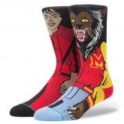 Stance Mens New Classic Crew Michael Jackson Comfort Red Socks
