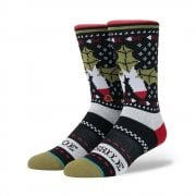 Stance Mens New Classic Crew Mistletoe Comfort Black Socks